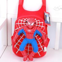 Plush Cartoon School Bags For Girls Cute Bear Spiderman Backpack For Children Boys Schoolbags Kids Bags
