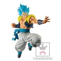 Banpresto Original Dragon Ball Super ULTIMATE SOLDIERS Gogeta Blue Hair PVC Figure Model Movie Broly Gogeta Figurine Toy