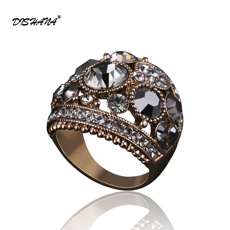 New Promise Rings Classical Fashion Charm Couple Ring  Wholesale Vintage Luxurious Women Colorful  Jewelry Rings(KA0001-1)
