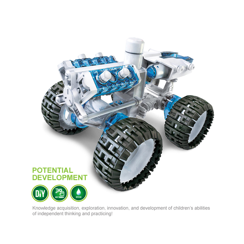 DIY Space Vehicle New Power Building Blocks Brine Power Engine Car for Kids Gift Plastic Creative Building Blocks Toys