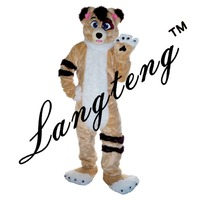 2018 New Husky Dog Fox Mascot Costumes For Adults Christmas Halloween Outfit Free Shipping