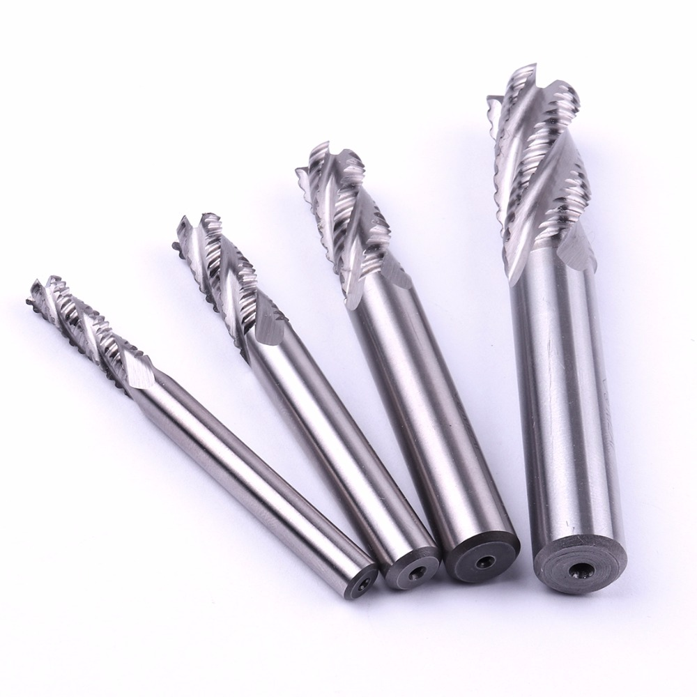 3pcs 6mm 8mm 10mm M2A1 4 Fulte End Mill Cutters Milling Cutting Drill Bit Tools