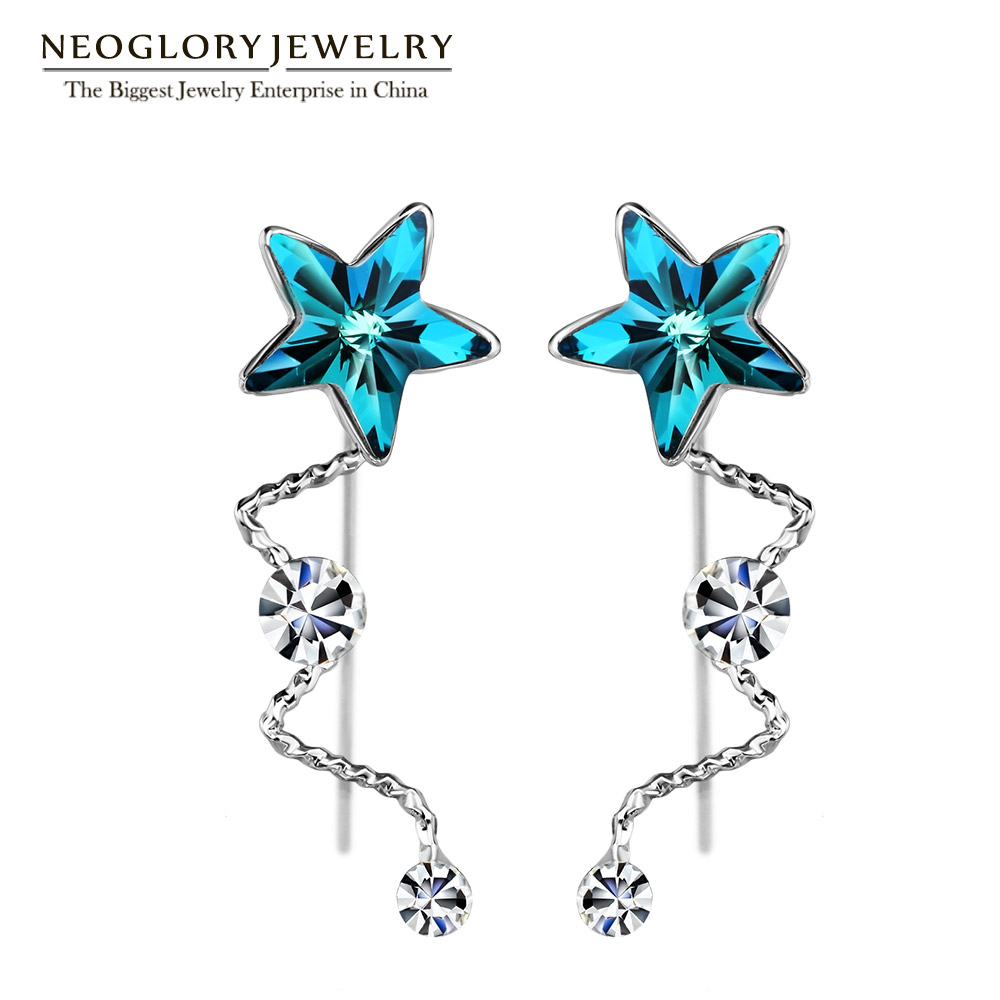 Neoglory Rhinestone Star Fashion Dangle Earrings Charm