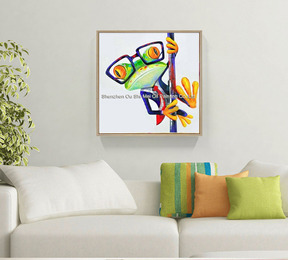 Hand Painted Oil Painting Frog Prince Paintings For Living Room Wall ...