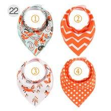 4 шт/лот хлопковые нагрудники для новорожденных модный шарф
