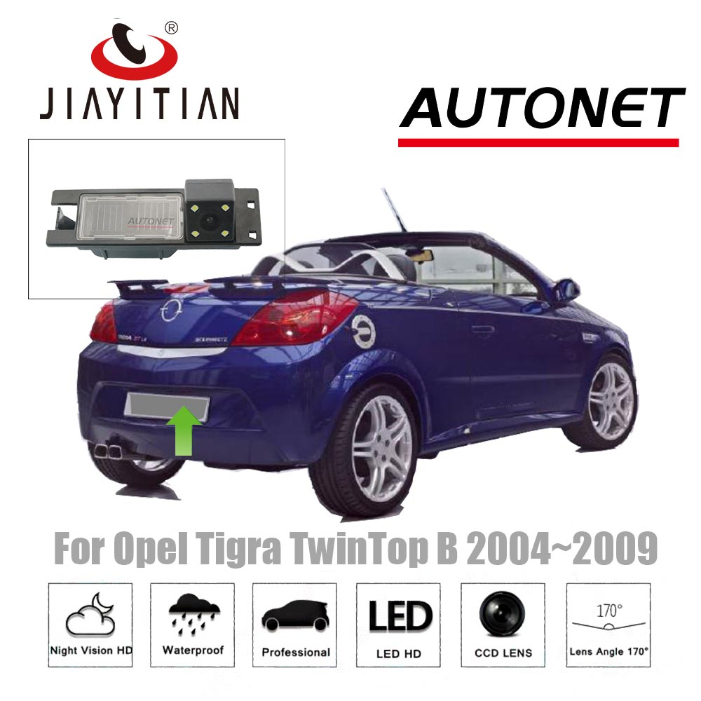 JiaYiTian Rear View Camera for opel Tigra TwinTop B Vauxhall /Vauxhall 2004~2009 CCD Night Vision License Plate Camera/Reverse 2x 18 smd led license plate light module for opel vauxhall vectra c estate caravan