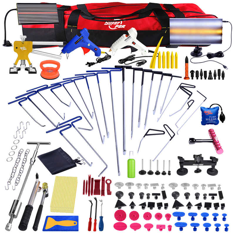 Super PDR tools Push Rod Hooks Crowbar Car Dent repair tool kit Lamp board slide hammer Paintless Dent Removal Hand Tools set dys 3 axis brushless blg5d aerial ptz gimbal w 3 motor and controller rtf for dslr camera