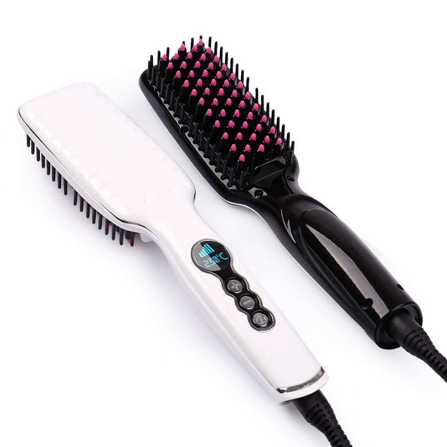 Electric Massage Straight comb LCD anti-hot hair straightener brush comb corrugation straightening irons hair brush Comb antistatic hair straightening detangled massage comb