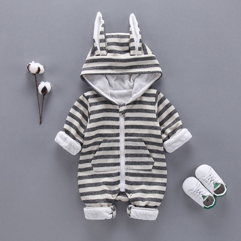 Spring Autumn newborn Baby Boys Clothes Sports Stripe suits for infant Baby Boys Hooded Clothing Jacket rompers Kids cloth sets newborn infant baby rompers spring autumn baby clothing long sleeve baby body suit kids boys girls rompers baby clothes kf070