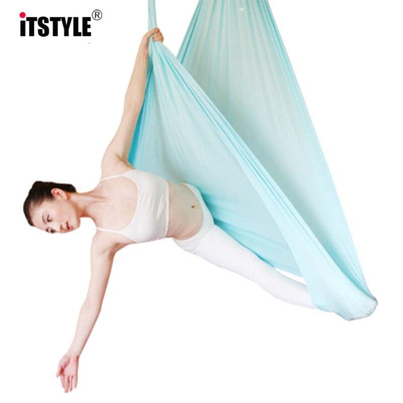 5 meters Elasticity Aerial Yoga Hammock Swing Multifunction Anti gravity Yoga belts for yoga training