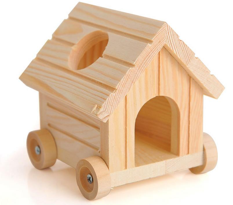 .com : Buy Moveable Wood Made Pentoof Hamster House With 4 Wheels ...