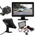Universal 4.3 ''TFT LCD Carro Espelho Retrovisor Monitor + Backup de Visão Noturna Câmera Reversa Do Carro-styling Varejo & Navio Livre por atacado