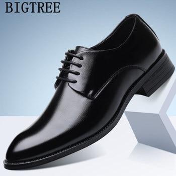 a2b2b4aeb54 Zapatos oxford para hombre de marca de lujo zapatos formales hombres  coiffeur zapatos de oficina italianos para hombre zapatos de cuero tenis  masculino ...