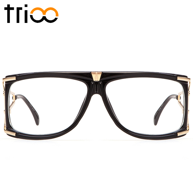 TRIOO 2017 Eyewear Accessories Black Square Spectacle Glasses Clear ...