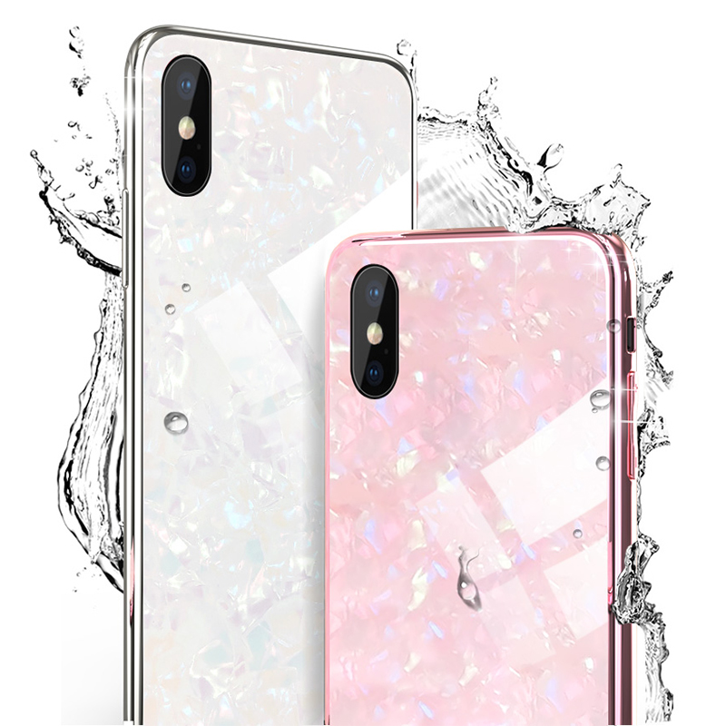 KIP7P1236_2_JONSNOW Tempered Glass Case For iPhone 6S 7 8 Plus Glossy Hard Back Cover Soft Silicone Edge for iPhone XS XR XS Max Phone Cases