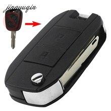 Jingyuqin 10 шт/Лот для Peugeot 206 207 306 307 Citroen C 2 2 кнопки пустой изменения Флип Складные удаленный Оболочки автомобиля Стиль