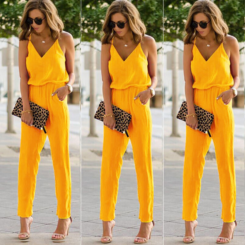 Bigsweety Sexy Women Summer Spaghetti Strap   Jumpsuits   New Beach Casual Sleeveless V Neck Rompers Female   Jumpsuits   Streetwear