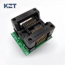 SOP16 SOIC16 SO16 To DIP16 Programming Socket Pitch 1.27mm IC Body Width 5.4mm 209mil Test Socket Adapter Programmer