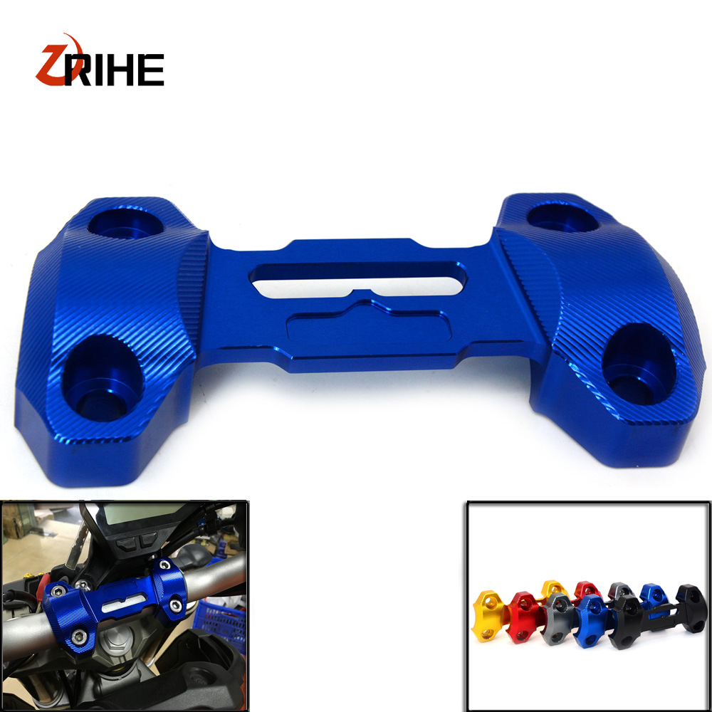 Motorcycle CNC Handlebar Fat Handle Bar Riser Mount Clamp Top Cover For Yamaha MT09 FZ09 2013 2016 MT 09 FZ 09 Moto Accessory in Covers Ornamental Mouldings from Automobiles Motorcycles