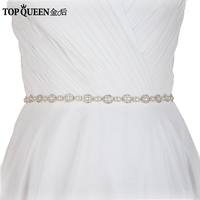 TOPQUEEN FREE SHIPPING S300 Rhinestones Wedding Belts Wedding Sashes Pearl Bridal Belts Bridal Sashes New Arrived