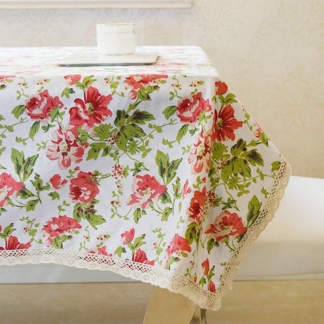 Latest High Grade Eco Friendly Linen Cotton Romantic Flowers