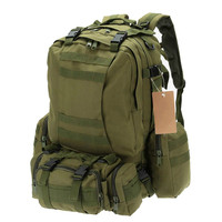 50L Camping Bags Outdoor Military Molle Tactical Bag Rucksack Backpacks Vintage Hiking Camouflage Water Resistant 600D
