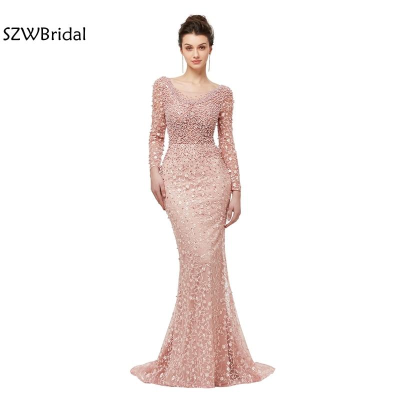 Nueva llegada de la sirena vestidos de noche largos 2018 vestido ...