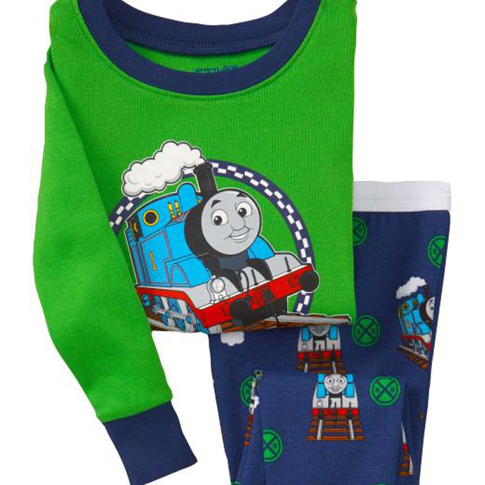 2017 Newest Thomas Pyjamas Boys Cotton Long Sleeve 2-7y Kids Thomas and Friends Clothes Sets Children Sleepwear Pijamas SA017 lovely spring pure cotton thomas and friends children clothing long sleeve tops pants for 2 7 years boy kids pajamas sleepwear