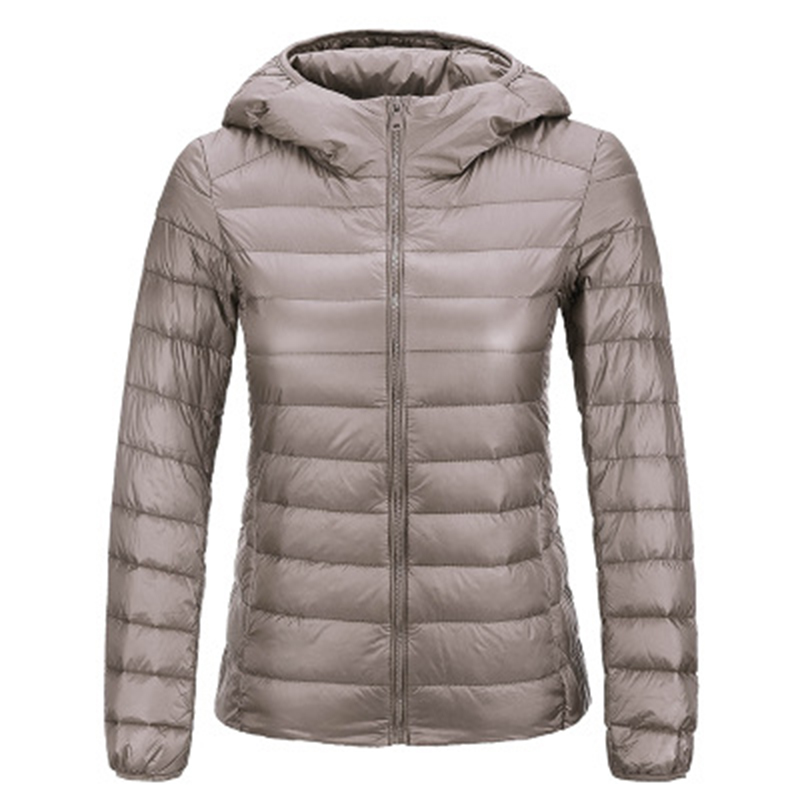 Brand Spring Autumn Winter Women Parka Ultra Light Down Parka 90 White Duck Down Jacket Women