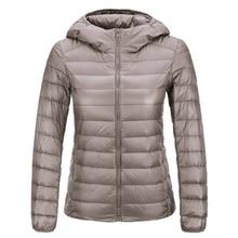 Brand Spring Autumn Winter Women Parka Ultra Light Down Parka 90% White Duck Down Jacket Women's Hooded Coat Down S–3XL