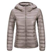 Brand Spring Autumn Winter Women Parka Ultra Light Down Parka 90 White Duck Down Jacket Women