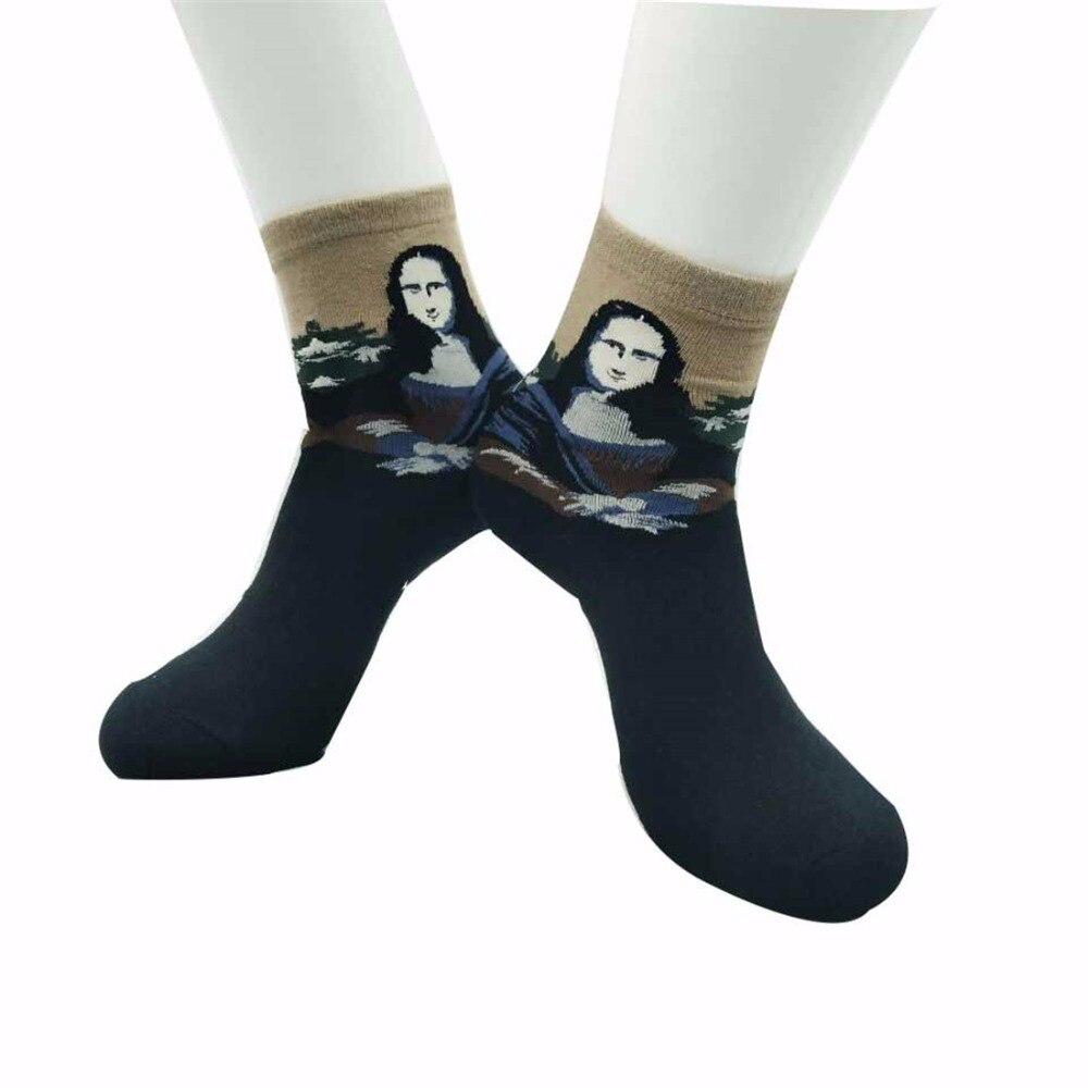 New Arrival Van Gogh Creative Painting Socks Series Mona Lisa Socks Fashion Women Socks Hot Sale Cute Socks