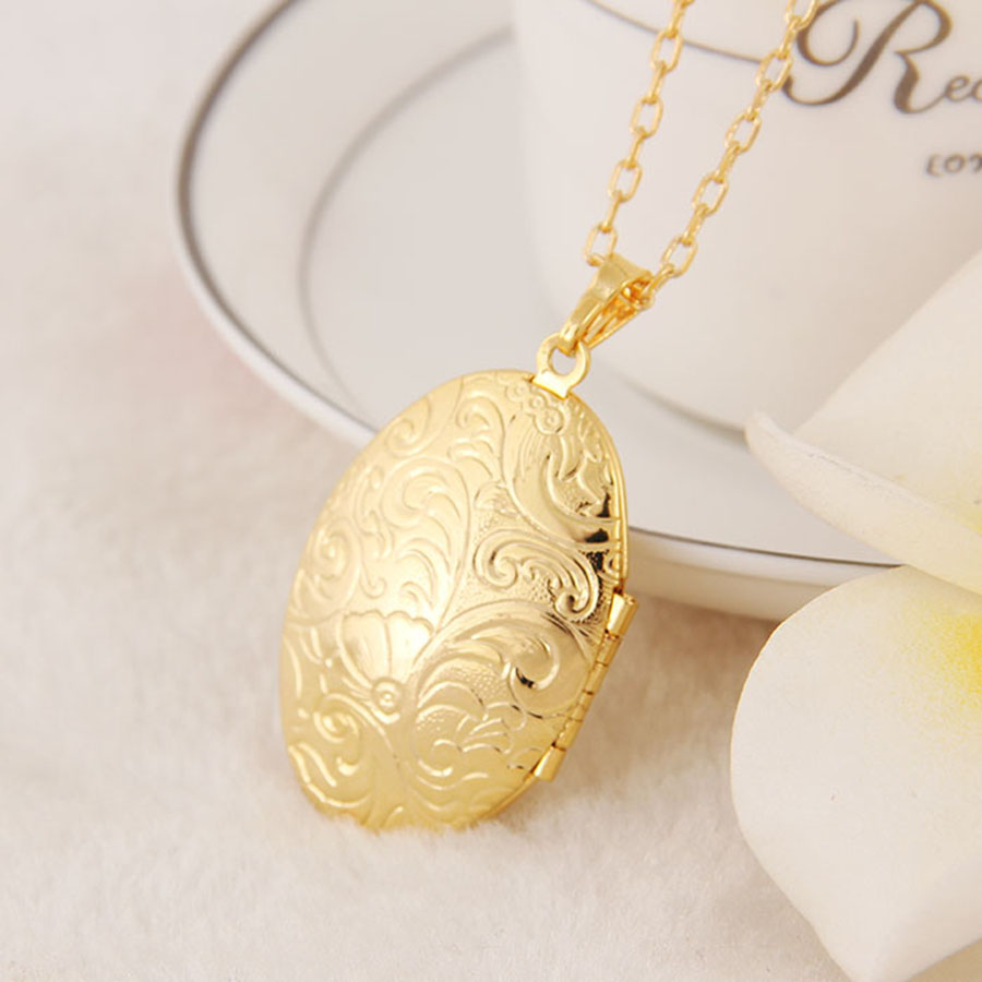 round yellow image steel locket cubic treasure finish zirconia gold lockets