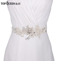 TOPQUEEN S74 Free Shipping Stock DIY Formal Wedding Pearl Applique Evening Dresses Blets Bridal Bridesmaid Dresses