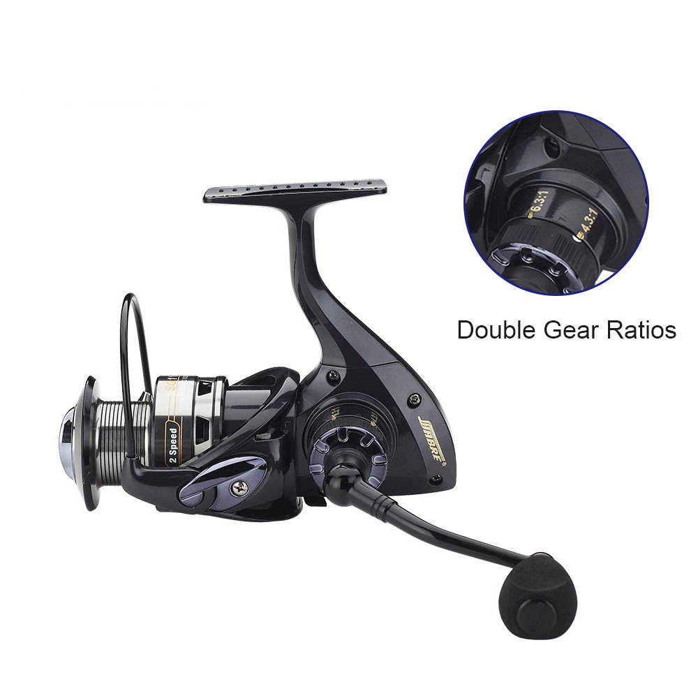 2016New Web Debut SG11Fishing Reel 10 1BB Aluminum Two Speed Gear Ratio CNC Spinning Reel