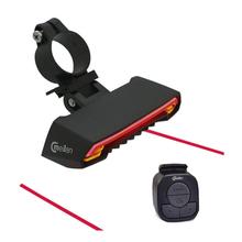 Meilan X5 bezprzewodowy rowerów hamulca światła wersja Flash bezpieczeństwa z tyłu włącz rower bezprzewodowy pilot zdalnego sterowania toczenia światło laserowe tanie tanio Enfitnix CE ROHS FCC Sztyca Baterii 110*45*30mm 130g 35*42*20mm 2000mAh 8hours IPX4 1000m Red Yellow 2 colors LED 80lux