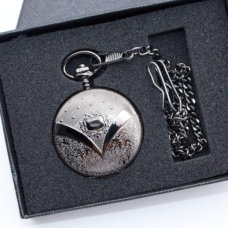 Mechanical Pocket Watch Roman Number Dial Pendant Necklace Chain Fob Watch Men Gift Reloj De Bolsillo