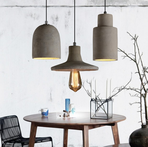Industrial Loft Style Cement Droplight Edison Vintage Pendant Light Fixtures For Dining Room Bar Hanging Lamp Indoor Lighting retro loft style iron cage droplight industrial edison vintage pendant lamps dining room hanging light fixtures indoor lighting