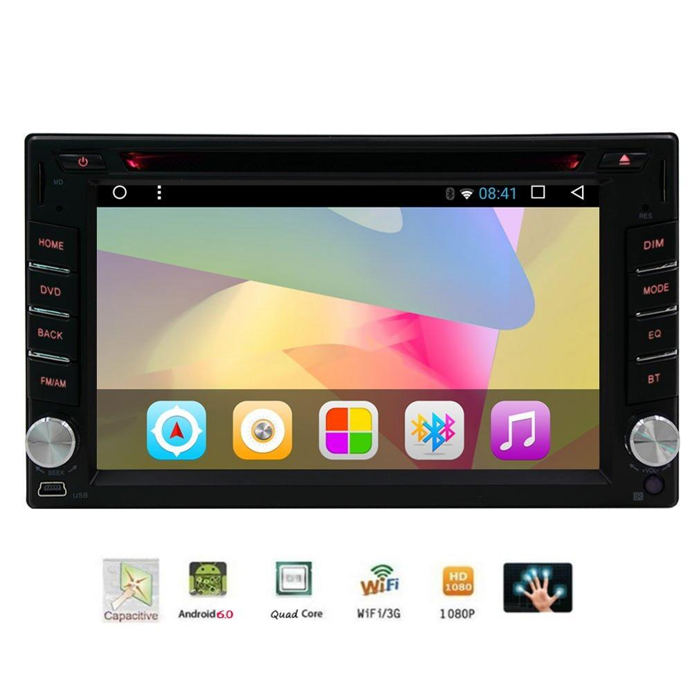 Car DVD font b gps b font Player in Dash Stereo Double Din Android 6 0