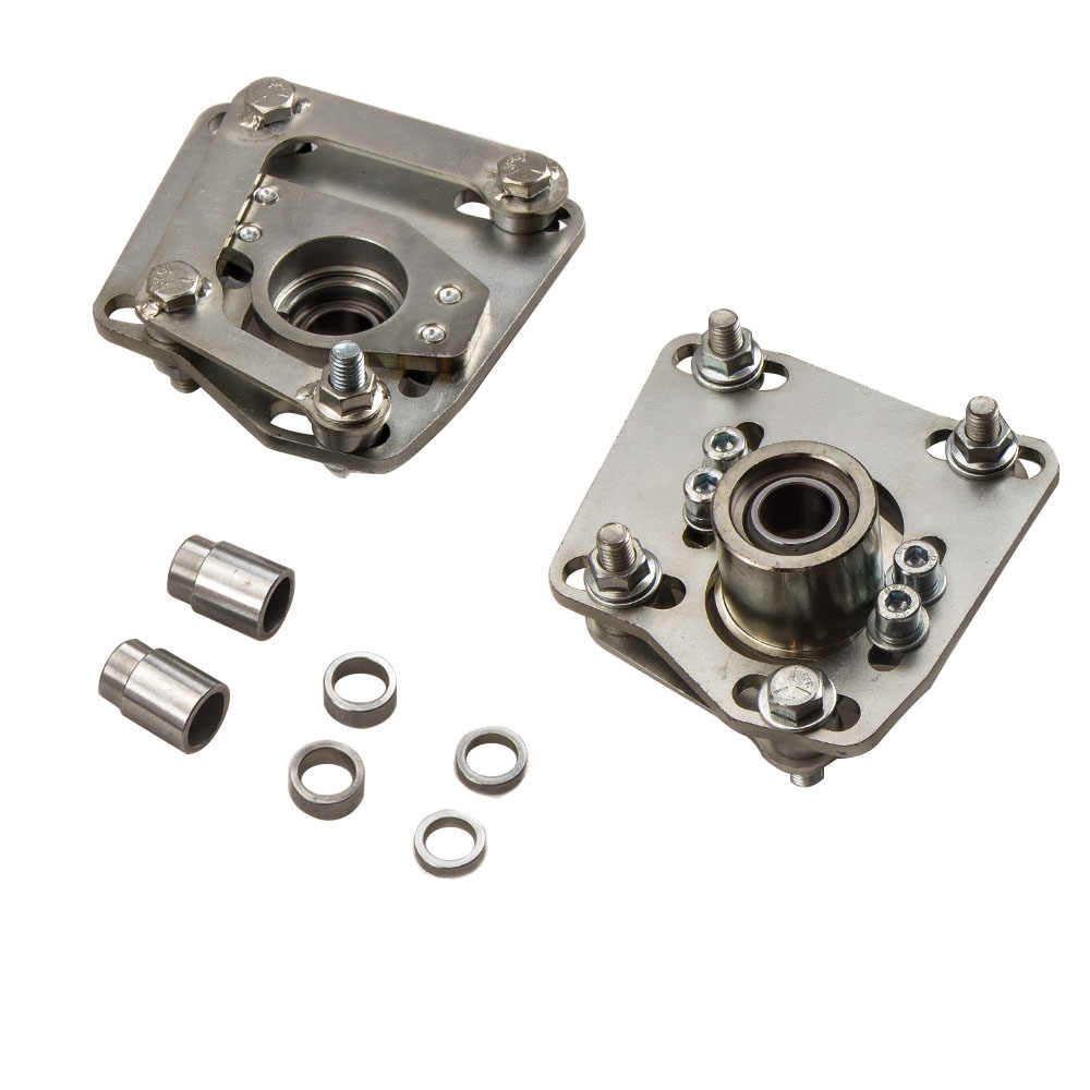 // 2.5 Coilover Camber//Caster Plates DNA Motoring CBK-PLT-FM94-PP Front Adjustable