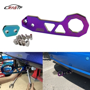 Image 1 - RASTP Top Selling Neo Chrome Passward JDM Rear Tow Hook Fit For Honda Civic Integra RSX With Logo RS TH004