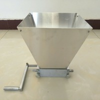 wholesale hand craft malt mill wheat grain mill crusher home brew beer machine with two Carbon steel rollers
