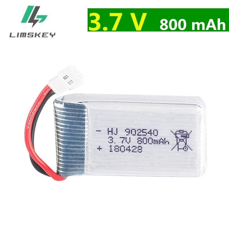 20pcs/lot 3.7V 800mAh Battery For Syma X5 X5C X5S X5HW X5HC X5SW M68 Four-axis Model Aircraft 3.7 V 800 MAh 902540 25C Battery