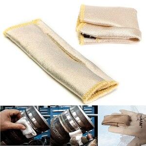 Image 2 - TIG guante de soldadura de fibra de vidrio, protector de escudo térmico, equipo de protección contra el calor
