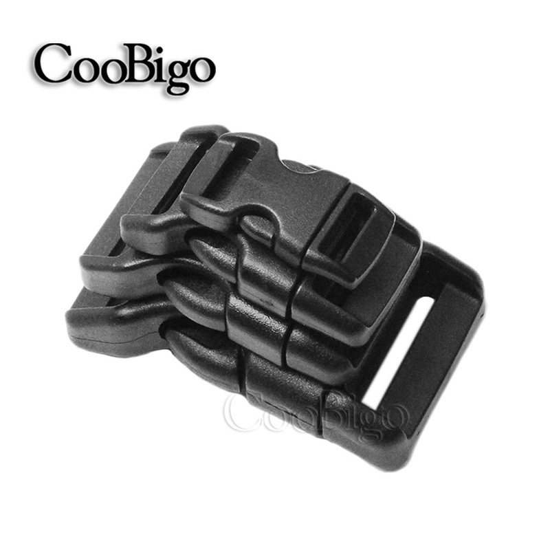 """5//8/"""" 15mm WEBBING SIDE RELEASE CURVED BUCKLE STRAP  For Backpack Dog Collar New"""