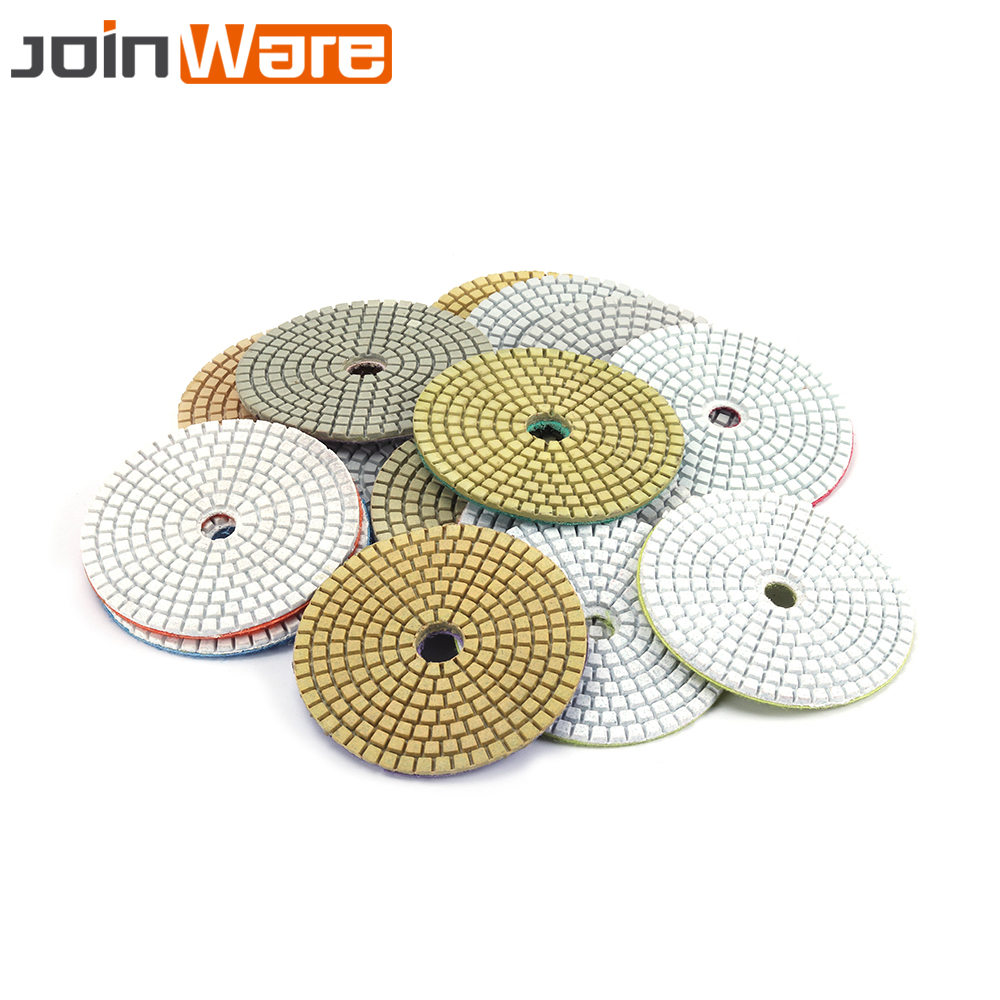 2 Pcs 30~8000 Grit 4 Inch Diamond Polishing Pads Marble Granite Concrete Stone