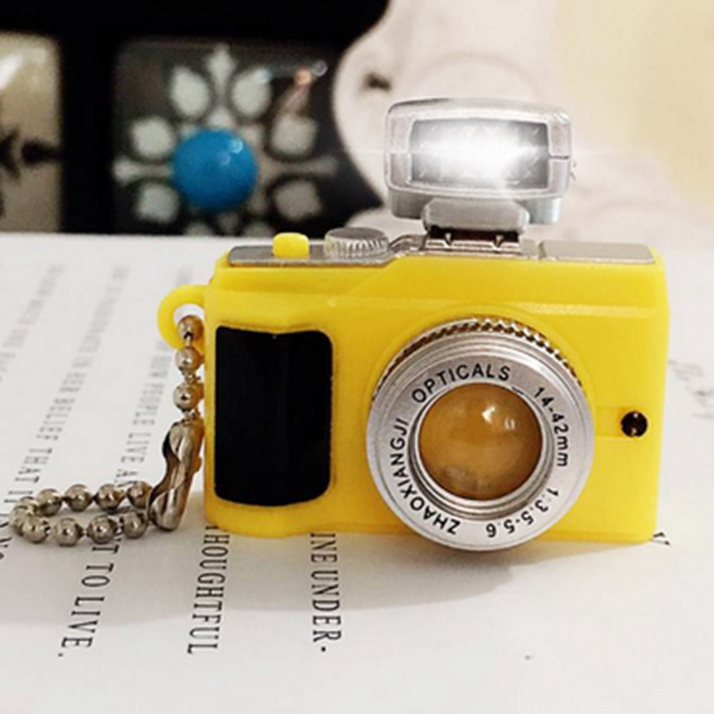 Camera Led Keychains With sound LED Flashlight Key Chain Key Ring Amazing Gift Keychain For Women/Men