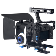 Professional Handle DSLR Rig Stabilizer Video Camera Cage/Follow Focus/Matte Box Kit For Sony A7S A7 A7R A7RII A7SII Lumix GH4