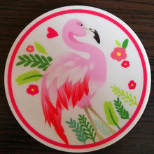CFen A's Flamingos Round Shape Silicone drink Coasters Coffee Cup Mat Pad Tea mat 4pcs 4pcs flamingos