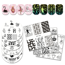 BORN PRETTY Fairy Princess Dwarf Stamping Template Dream Catcher Ballet Swan Geometry Nail Stamping Plates Nail Stamp Plate